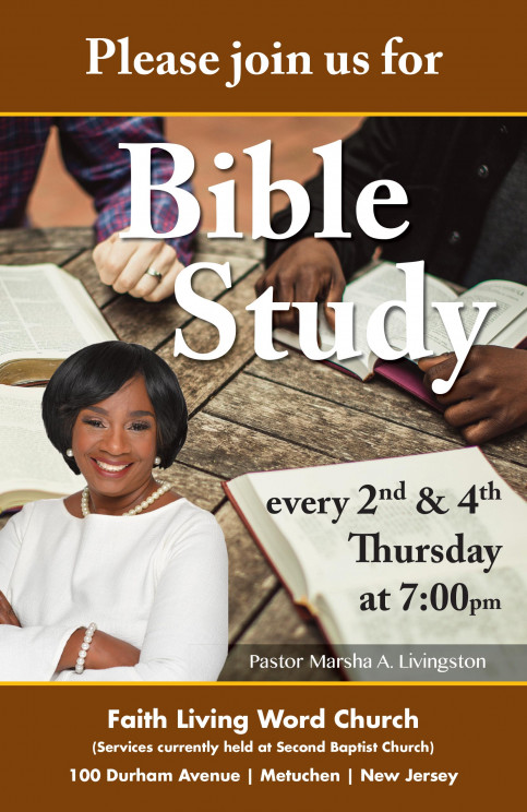 Join Us Every 2nd and 4th Thursday For Bible Study